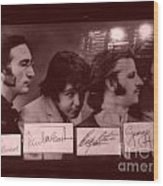 The Beatles In Old Photo Process At Fudruckers Wood Print