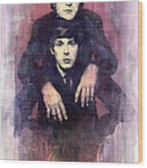 The Beatles John Lennon And Paul Mccartney Wood Print by Yuriy  Shevchuk