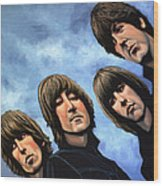 The Beatles Rubber Soul Wood Print