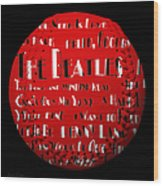 The Beatles Songs Baseball Square Wood Print