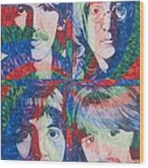 The Beatles Squared Wood Print