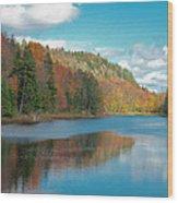 The Beautiful Bald Mountain Pond Wood Print
