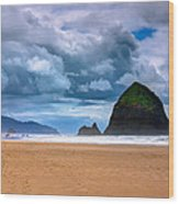 The Beautiful Cannon Beach Wood Print