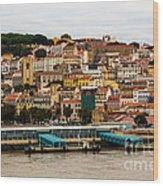 The Beautiful Colors Of Lisbon Wood Print