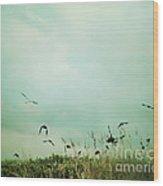 The Beautiful Flight Wood Print by Sharon Coty