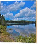 The Beautiful Lake Abanakee New York Wood Print