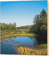 The Beautiful Moose River In Old Forge New York Wood Print