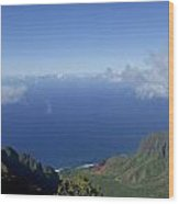 The Beautiful Na Pali Coast Wood Print