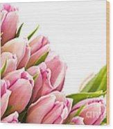 The Beautiful Purple Tulips Wood Print by Boon Mee