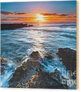 The Beautiful Sunset Beach Wood Print