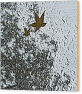 The Beauty Of Autumn Rains - A Vertical View Wood Print