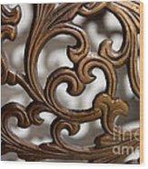 The Beauty Of Brass Scrolls 2 Wood Print