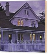 The Bed And Breakfast At Heceta Wood Print