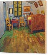 The Bedroom Of Van Gogh At Arles Wood Print