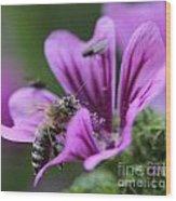 The Bee Wood Print
