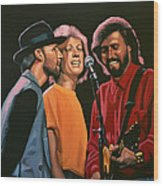 The Bee Gees Wood Print