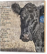 The Beef Industry Wood Print