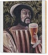 The Beer Drinker Wood Print