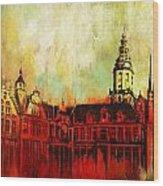 The Belfries Of Belgium And France  Wood Print