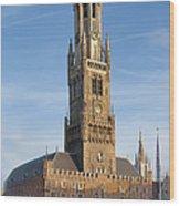 The Belfry Of Bruges Wood Print