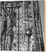 The Bells Of Coney Island In Black And White Wood Print