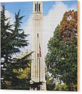 The Belltower At Nc State University Wood Print