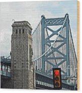 The Ben Franklin Bridge Wood Print