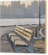The Bench Wood Print by JC Findley