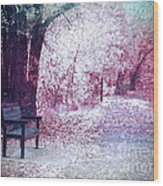The Bench Of Promises Wood Print
