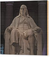 The Benjamin Franklin Statue Wood Print