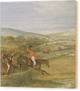The Berkeley Hunt, Full Cry, 1842 Wood Print