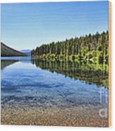 The Best Beach In Glacier National Park Panorama 2 Wood Print