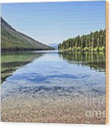 The Best Beach In Glacier National Park Wood Print by Scotts Scapes