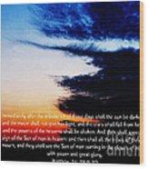 The Bible Matthew 24 Wood Print