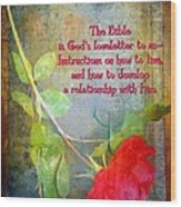 The Bible Wood Print