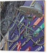 The Bicycle Peddler Wood Print