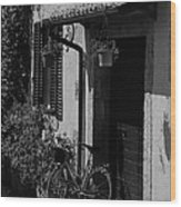 The Bicycle Under The Porch Wood Print