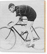The Bicyclist - 1914 Wood Print