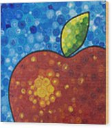 The Big Apple - Red Apple By Sharon Cummings Wood Print