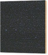 The Big Dipper And Comet Catalina Wood Print