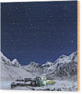 The Big Dipper Rise Above The Himalayas Wood Print