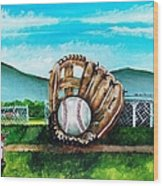 The Big Leagues Wood Print by Shana Rowe Jackson