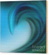 The Big Wave Of Hawaii 5 Wood Print