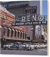 Reno The Biggest Little City In The World 1940s Wood Print