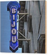 The Bijou Theatre - Knoxville Tennessee Wood Print