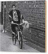 The Biker Wood Print