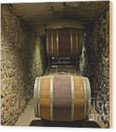 The Biltmore Estate Wine Barrels Wood Print
