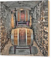 The Biltmore Estate Wine Barrels Wood Print