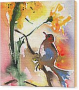 The Bird And The Flower 01 Wood Print