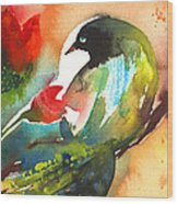The Bird And The Flower 03 Wood Print